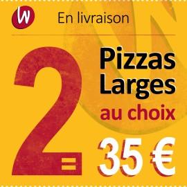 2 PIZZA LARGES